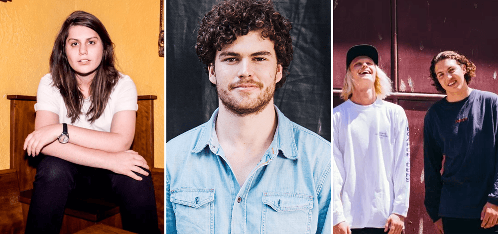 Alex Lahey, Vance Joy, and Hockey Dad, the three most-played acts on triple j this week.